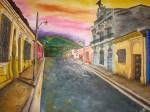 Obras de arte: America : El_Salvador : Santa_Ana : santa_ana_ciudad : Atardecer en Chalchuapa