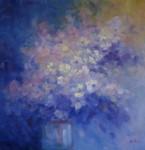 Obras de arte: Europa : España : Euskadi_Guipúzcoa : San_Sebastian : flores azul