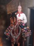 Obras de arte: Europa : España : Extremadura_Badajoz : Navalvillar_de_Pela : jinete San Anton