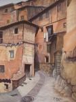 Obras de arte: Europa : España : Valencia : valencia_ciudad : callejuela de Albarracín