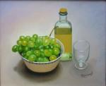 Obras de arte:  :  :  :  : Uvas, botella de vino y copa
