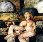 Obras de arte: Europa : España : Castilla_y_León_Salamanca : BéJAR : Chica sombrero azul