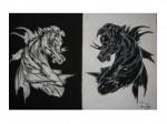 Obras de arte:  :  :  :  : Bizarro blanco y negro
