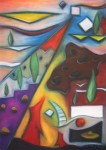 Obras de arte: Europa : Portugal : Lisboa : Parede : Stop Thinking