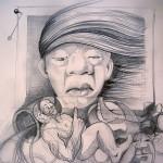 Obras de arte: Europa : España : Catalunya_Barcelona : BCN : boceto-retrato al viento