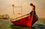 Obras de arte:  : España : Andalucía_Sevilla : sevilla : niño en la barca