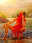 Obras de arte:  : España : Andalucía_Sevilla : sevilla : mujer en el rio