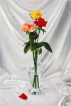 Obras de arte:  :  :  :  : Jarrón de cristal con tres rosas