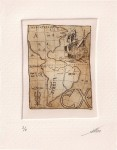 Obras de arte: America : Argentina : Buenos_Aires : General_Sarmiento : Ex Libris Espinazo.Grabado. Aguafuerte.  Bookplates. America, Argentina. Luis Seibert