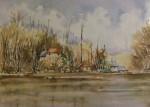 Obras de arte: Europa : España : Comunidad_Valenciana_Alicante : Novelda : Casas en el lago