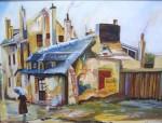 Obras de arte: Europa : España : Galicia_Pontevedra : Bayona : Pueblo gallego