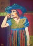Obras de arte:  :  :  :  : Mujer a rayas