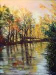Obras de arte:  : España : Madrid : Boadilla_del_Monte : Paisaje con río
