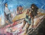 Obras de arte: America : Argentina : Buenos_Aires : Capital_Federal : Nazarena y los lobos