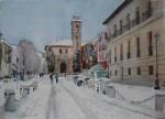 Obras de arte: Europa : España : Andalucía_Granada : Cenes_de_la_Vega : Plaza Nueva nevada, Granada