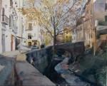 Obras de arte: Europa : España : Andalucía_Granada : Cenes_de_la_Vega : Acera del Darro, Granada
