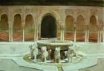 Obras de arte: Europa : España : Andalucía_Granada : Cenes_de_la_Vega : Patio de los Leones, Alhambra