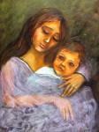 Obras de arte:  : Ecuador : Pichincha : Quito_ciudad : Madre con niño