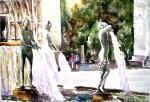 Obras de arte: Europa : España : Valencia : moncada : Fuente Plaza la Virgen-Valencia