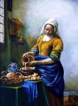 Obras de arte: Europa : España : Madrid : Las_Rozas : La lechera de Vermeer