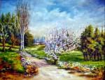 Obras de arte: Europa : España : Madrid : Las_Rozas : Almendros en flor