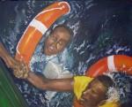 Obras de arte: Europa : España : Madrid : Moralzarzal : Rescate en el mar