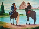 Obras de arte: America : Rep_Dominicana : Santiago : rep._imperial : VAQUEROS
