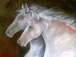 Obras de arte: America : Venezuela : Merida : pedregosa : caballos