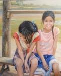 Obras de arte:  : España : Madrid :  : Niñas en el lago