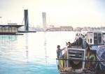 Obras de arte: Europa : España : Valencia : valencia_ciudad : Arreglando aparejos , puerto de Valencia