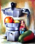 Obras de arte: America : Cuba : La_Habana : Vedado : la cafetera