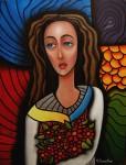 Obras de arte: America : Estados_Unidos : New_York : Bayside : vendedora de flores