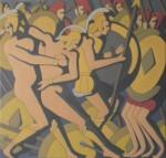 """Obras de arte:  : Uruguay : Montevideo : Montevideo_ciudad : Serie: """"Mitología griega"""" Obra: """"Ayax rescatando a Aquiles"""""""
