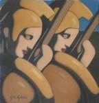"""Obras de arte:  : Uruguay : Montevideo : Montevideo_ciudad : Serie: """"Mitología griega"""" Obra: """"Guerreros Griegos"""""""