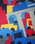 "Obras de arte:  : Uruguay : Montevideo : Montevideo_ciudad : ""Paisaje urbano 2"""