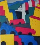 "Obras de arte:  : Uruguay : Montevideo : Montevideo_ciudad : ""Paisaje urbano 3"""