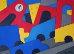 "Obras de arte:  : Uruguay : Montevideo : Montevideo_ciudad : ""Paisaje urbano 4"""