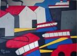 "Obras de arte:  : Uruguay : Montevideo : Montevideo_ciudad : ""Paisaje urbano 5"""