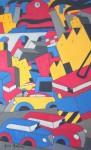 "Obras de arte:  : Uruguay : Montevideo : Montevideo_ciudad : ""Paisaje urbano 6"""