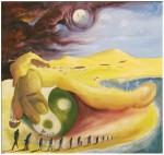 Obras de arte: America : Uruguay : Montevideo : Montevideo_ciudad : EXODO ( LLEGANDO LA TORMENTA )