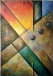 """Obras de arte:  : Argentina : Cordoba : COSQUíN : """"Construcciones III"""""""