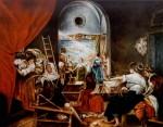 Obras de arte: Europa : España : Madrid : Las_Rozas : Las Hilanderas.Copia de Velázquez