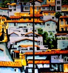 Obras de arte: America : Colombia : Antioquia : Medellin : Al otro lado del rio