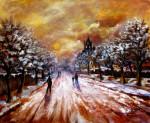 Obras de arte: Europa : España : Madrid : Las_Rozas : Paisaje nevado