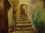 Obras de arte: America : Chile : Valparaiso :  : el ultimo peldaño