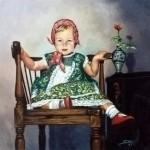 Obras de arte:  : España : Andalucía_Sevilla : Espartinas : Retrato de niña