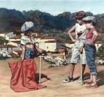 Obras de arte:  : España : Andalucía_Sevilla : Espartinas : Maletillas en Cortegana