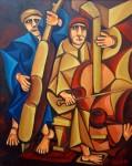 Obras de arte: Europa : España : Galicia_Pontevedra : pontevedra : JAZZ EN LA CALLE