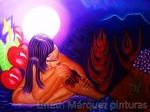 Obras de arte:  : Panamá : Panama-region : Panamá_centro : Flor del aire, la india dormida del Valle de Antón(derechos de autor Lineth Márquez, prohibida la reproducción)