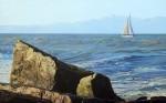Obras de arte:  : Argentina : Buenos_Aires : Mar_del_Plata : Velero y Rocas